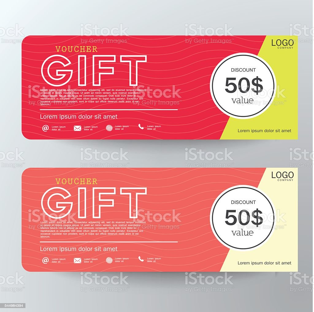 Gift Voucher Template Design Concept For Gift Coupon Royalty Free Gift Voucher  Template Design Concept  Free Voucher Design Template