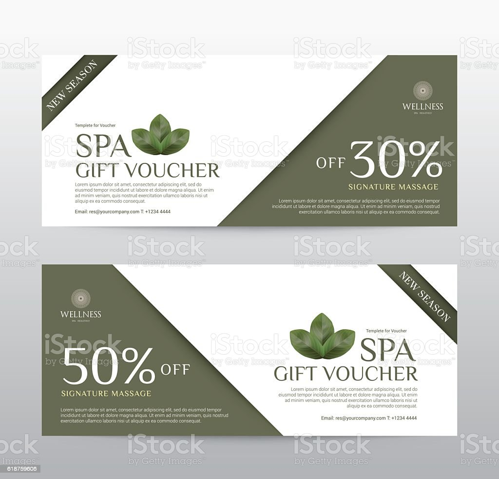 gift voucher template for spa hotel resort vector illustration royalty free gift voucher