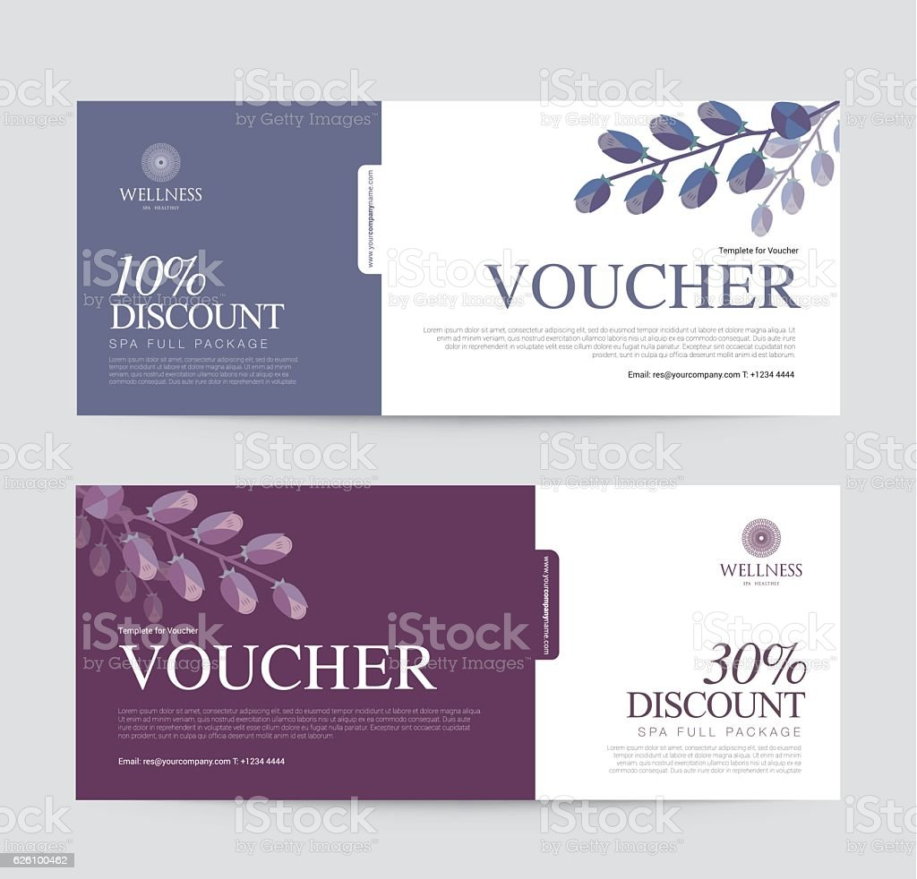 Gift Voucher template for Spa, Hotel Resort, Vector illustration - Illustration vectorielle