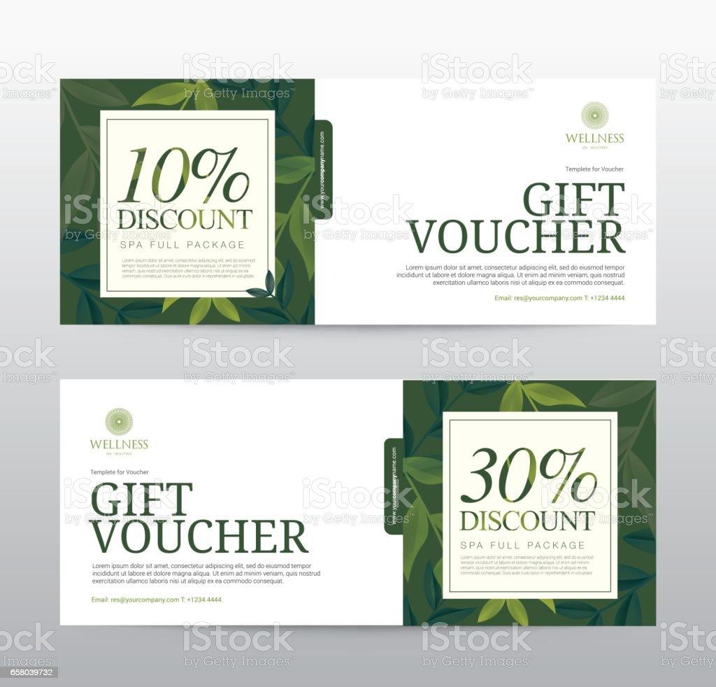 Cadeau de modèle de pièce justificative pour Spa, Hotel Resort, illustration vectorielle - Illustration vectorielle