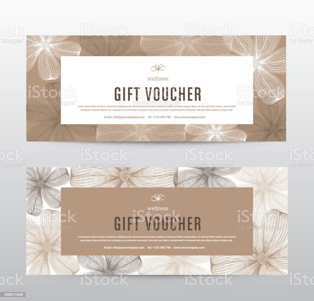 Geschenkgutschein Vorlage Für Spa Hotel Resort Vektorillustration ...