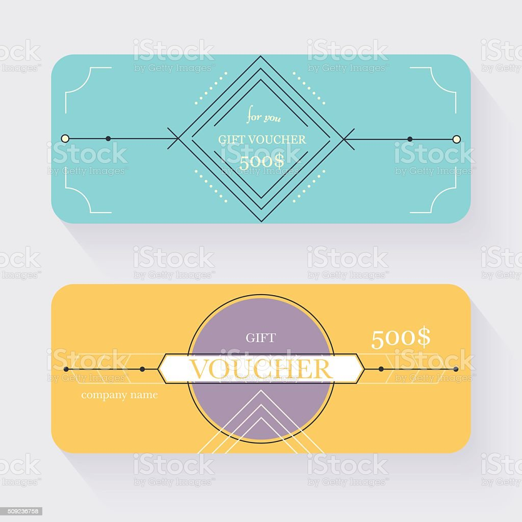 Gift Voucher Template Gift Certificate Background Design Gift Stock