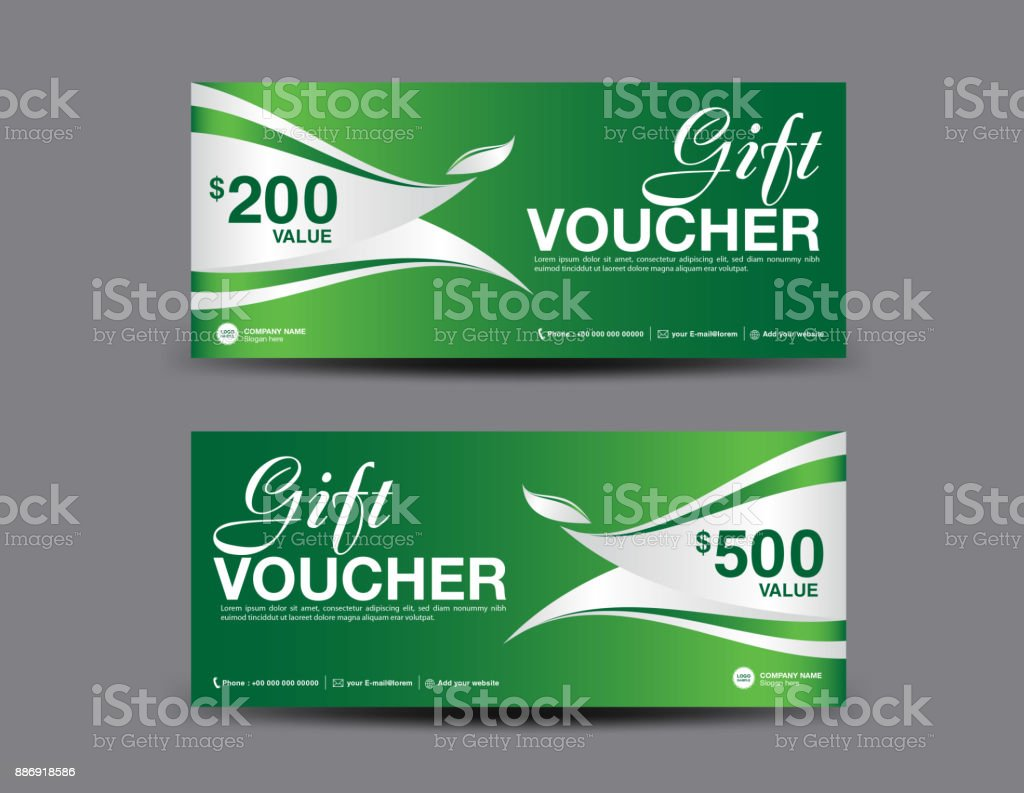 Gift Voucher Template Layout Business Flyer Design Green Coupon ...