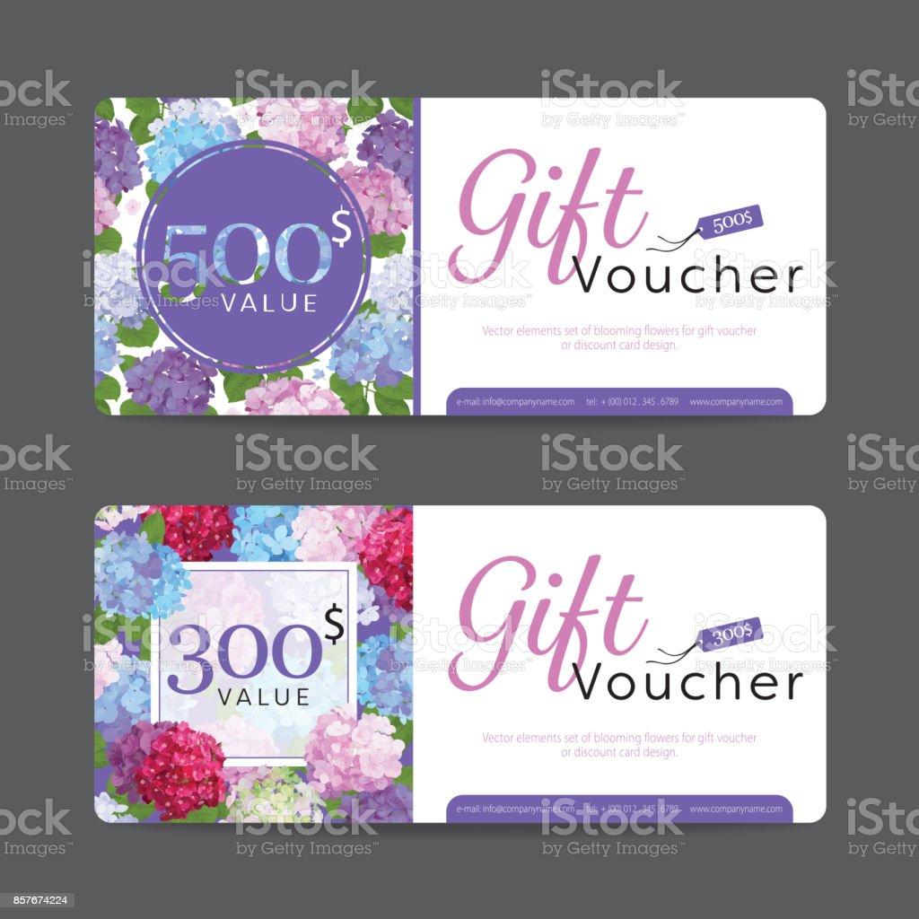 Geschenkgutschein Vorlage Wert 500 Und 300 Mit Elementen Von ...