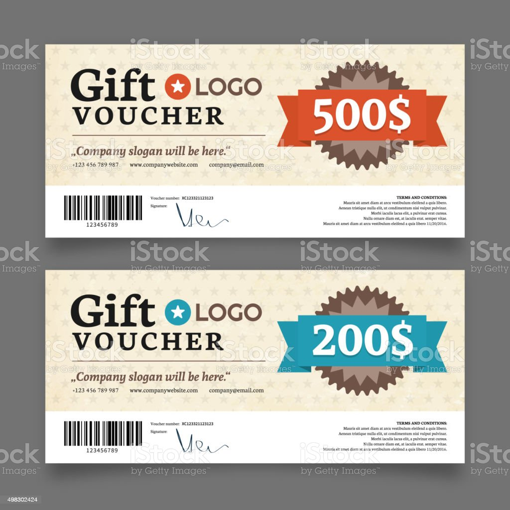 Gift voucher template vector graphic design stock vector art gift voucher template vector graphic design royalty free gift voucher template vector graphic design 1betcityfo Images