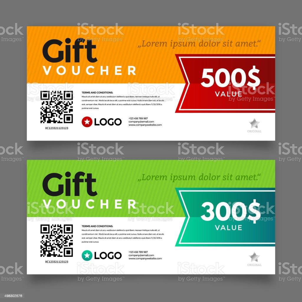 Gift voucher template, vector graphic design vector art illustration