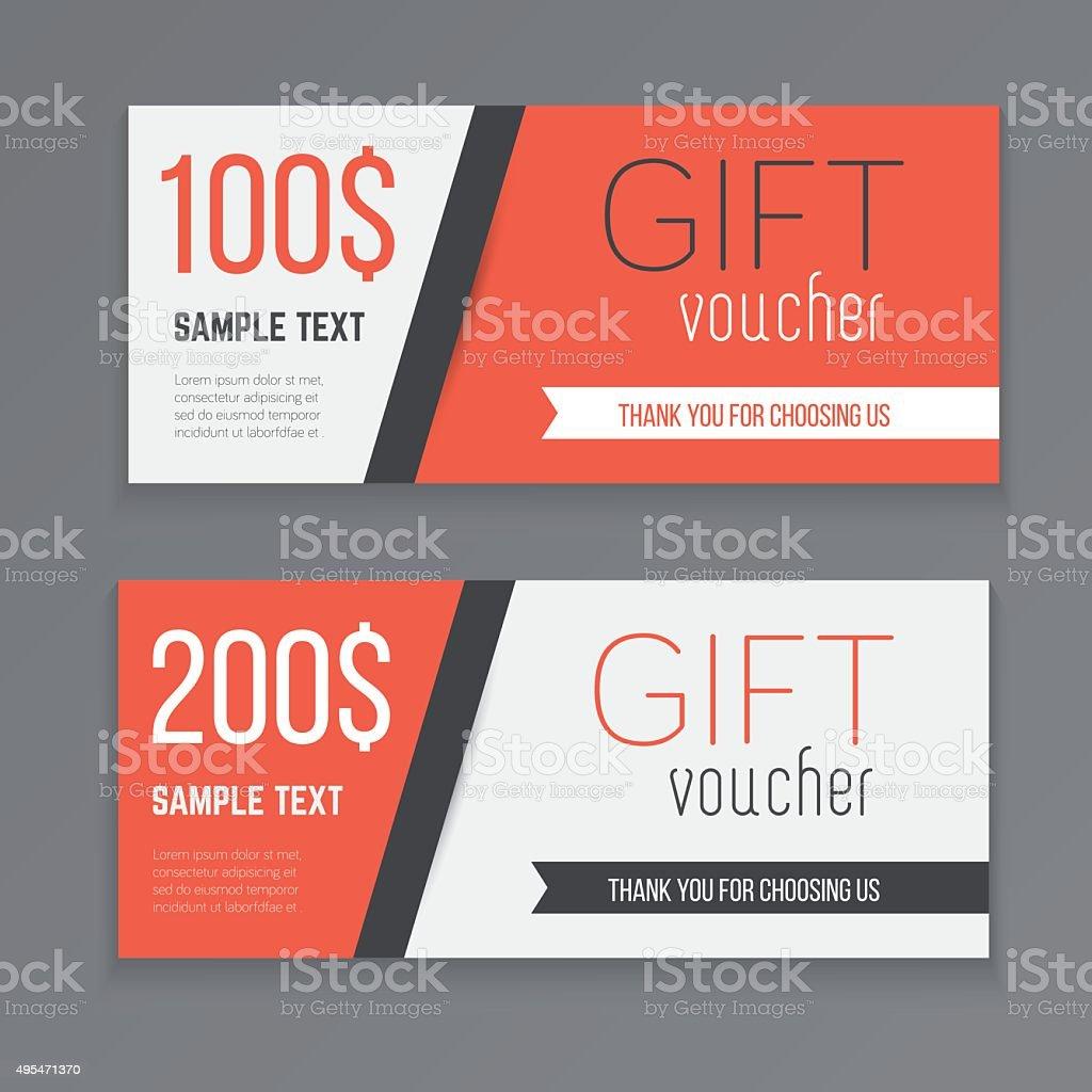 Gift voucher template. vector art illustration
