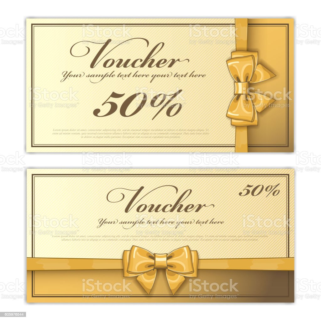 Gift Voucher Template Vector Layout Stock Vector Art More Images