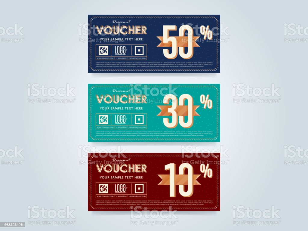 Gift voucher template, vector layout vector art illustration