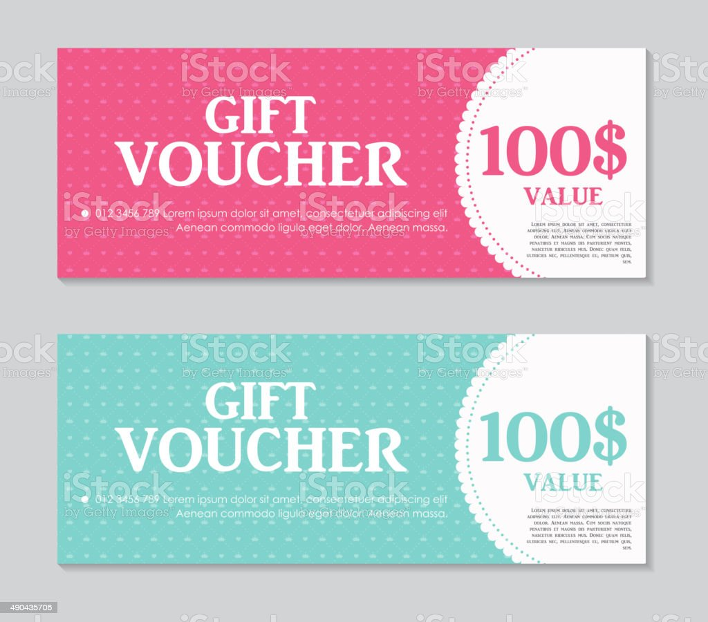 Gift Voucher Template with Sample Text Vector Illustration vector art illustration