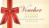 Thousand dollar decorated gift voucher.
