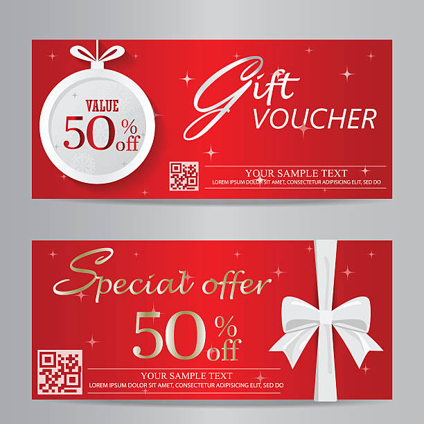 royalty free christmas gift certificate clip art vector images