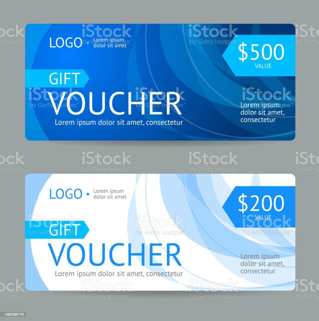 Gift Voucher. Vector vector art illustration
