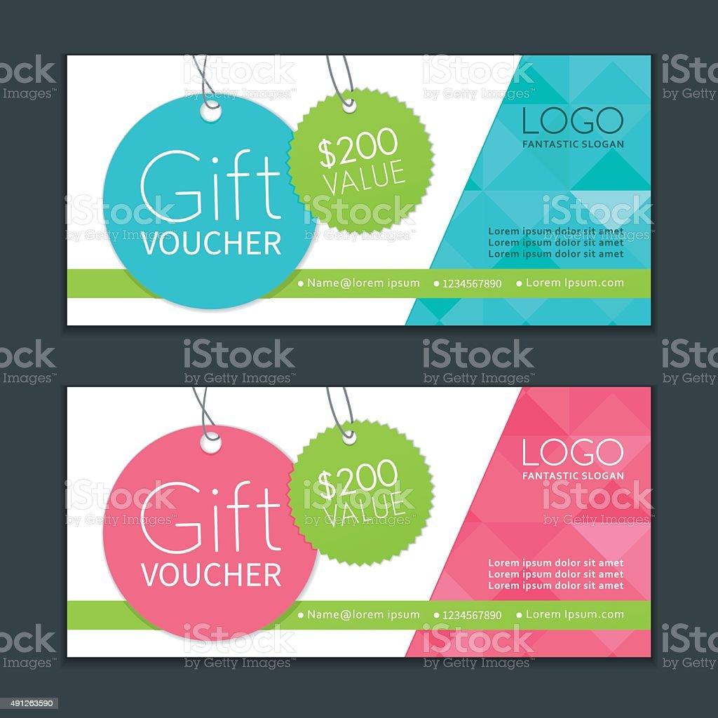 Gift Vouchers Template vector art illustration