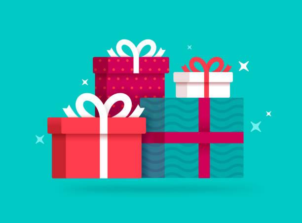 prezenty i prezenty - gift stock illustrations