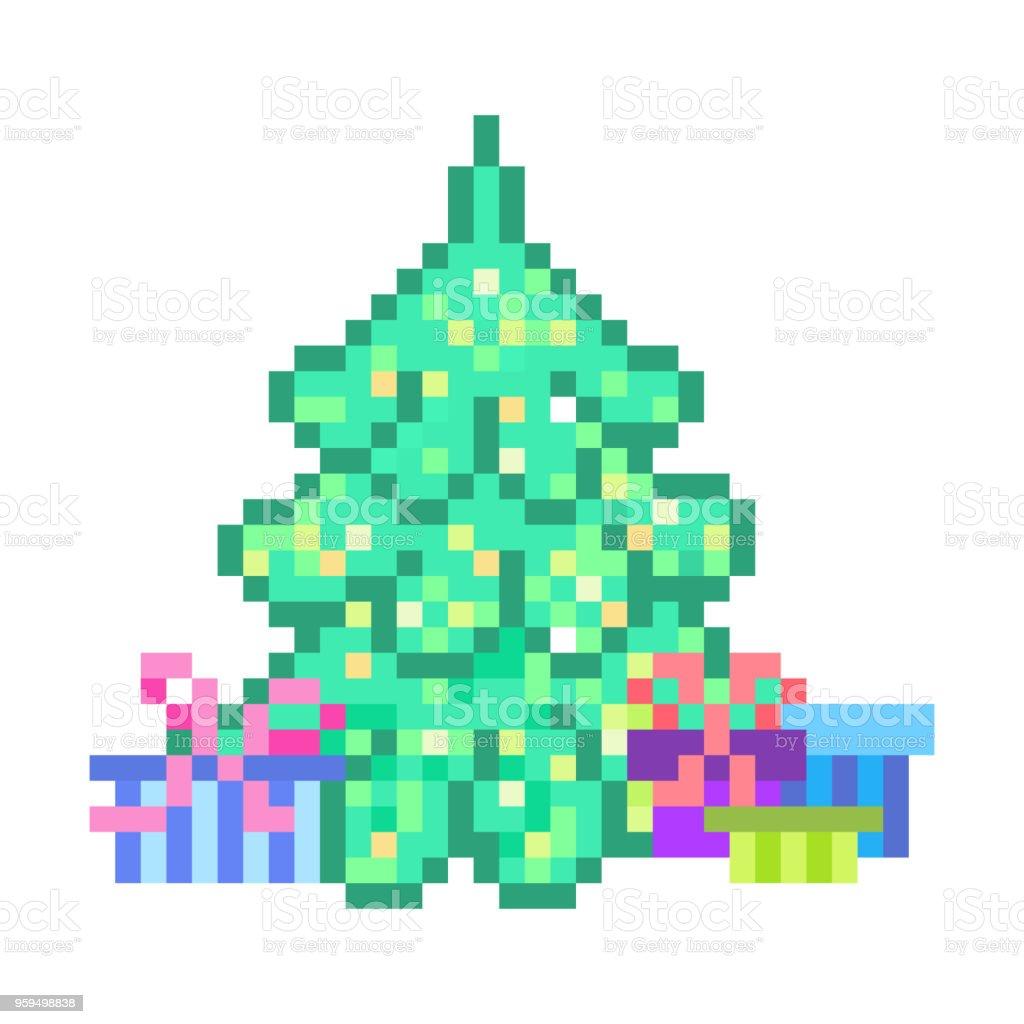 Cadeaux Autour De Sapin De Noël Illuminé Scène De Lart 8