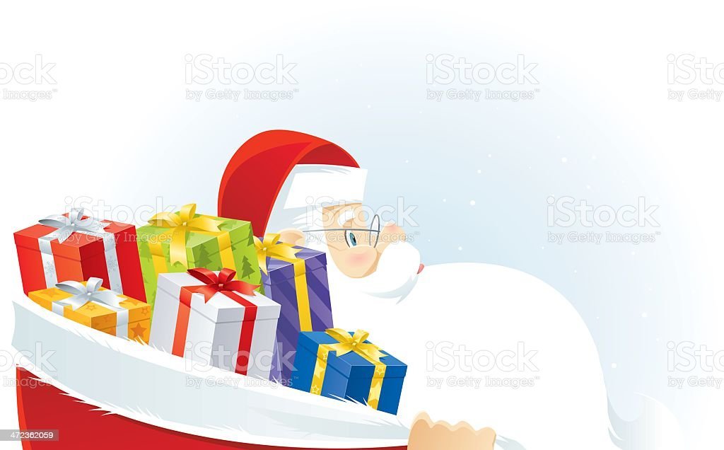 Gifts from Santa royalty-free stock vector art