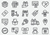 istock Gifts Line Icons 980668956