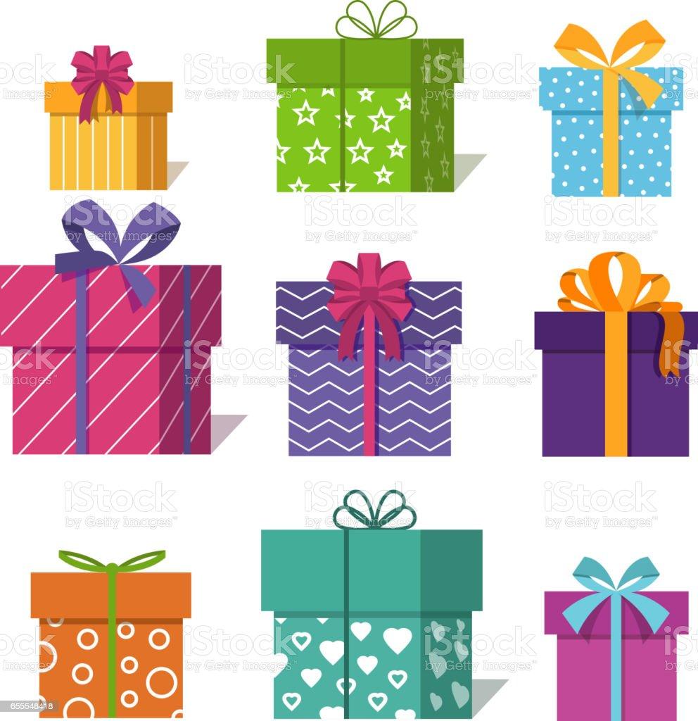 バレンタイン クリスマス デザインの贈り物やプレゼント ボックス