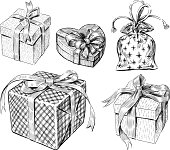 Vector drawing of the various gifts.