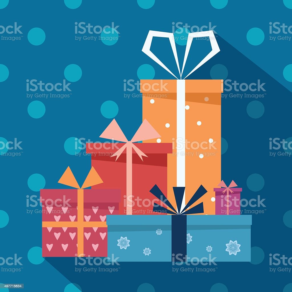 Gifts vector art illustration