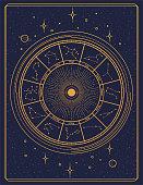 istock Gilded retro style zodiac sign constellation poster 1224598926