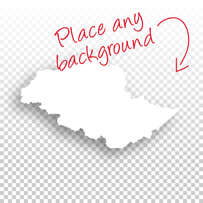 Gilgit Baltistan Map for design - Blank Background