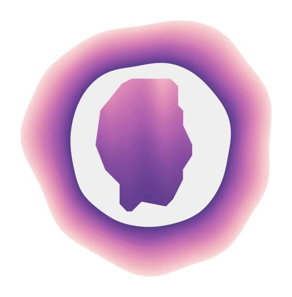 Gili Trawangan icon. Gili Trawangan icon. Colorful gradient logo of the island. Purple red Gili Trawangan rounded sign with map for your design. Vector illustration. lagbok stock illustrations