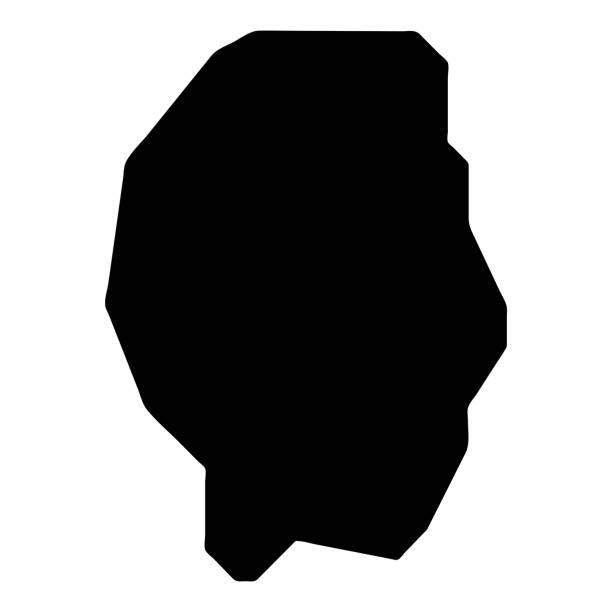 Gili Trawangan map. Gili Trawangan map. Island silhouette icon. Isolated Gili Trawangan black map outline. Vector illustration. lagbok stock illustrations