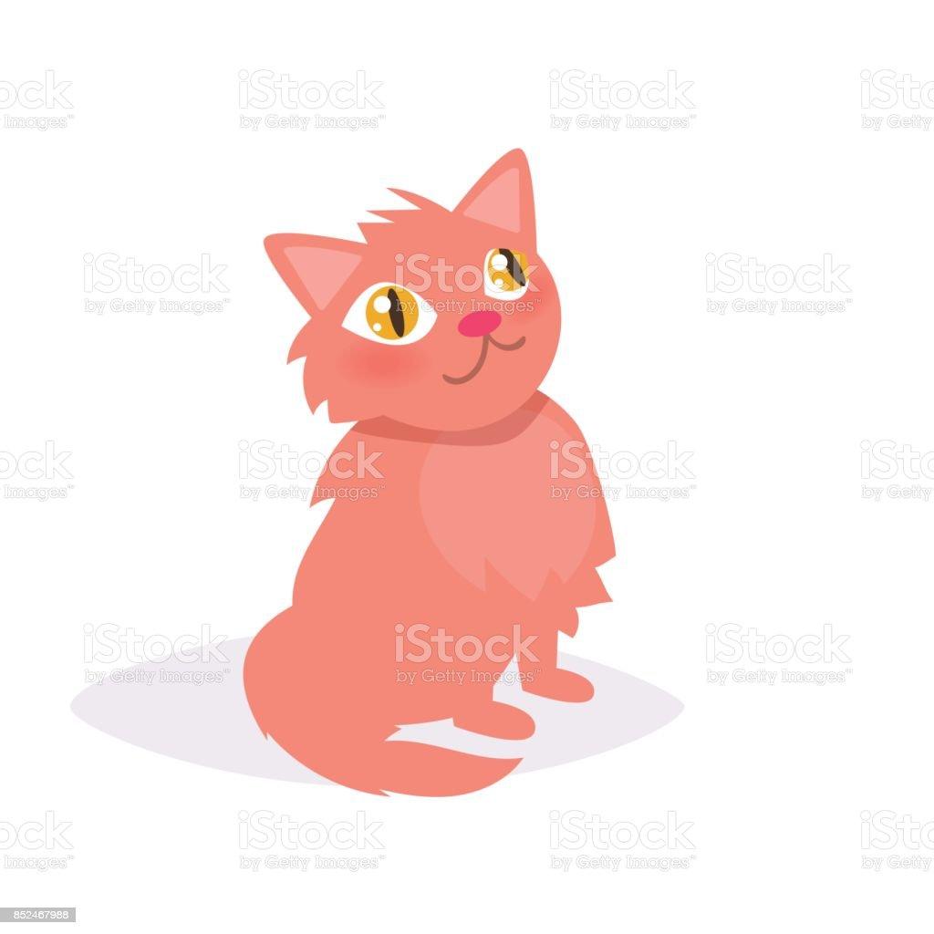 Ginger cat. Vector. Cartoon vector art illustration