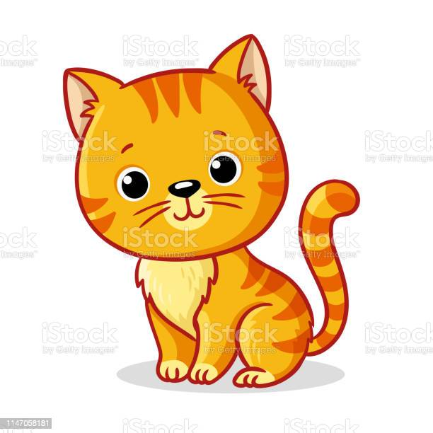Ginger kitten sitting on a white background cute animal in cartoon vector id1147058181?b=1&k=6&m=1147058181&s=612x612&h=wdfhdh8dsv bqduyar18r6fftge6vsys5aiuy4revoe=