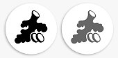 istock Ginger Root Black and White Round Icon 1155334857