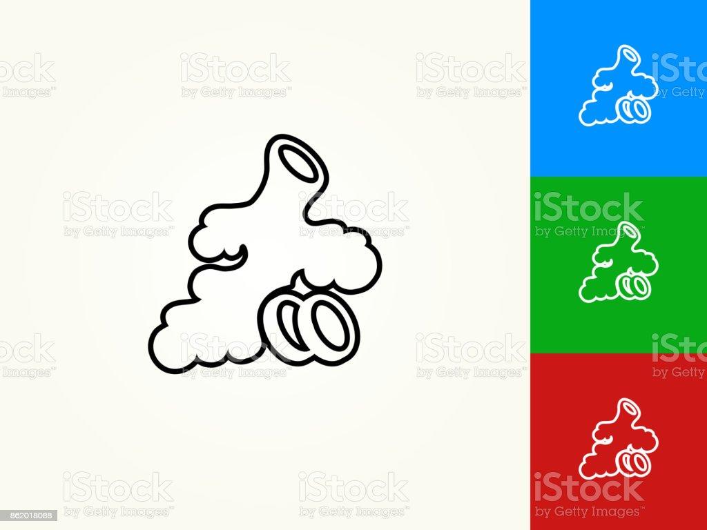 Ginger Root Black Stroke Linear Icon vector art illustration