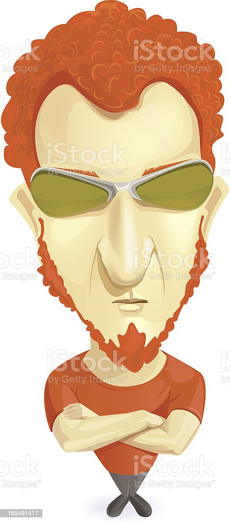 Ginger vector art illustration