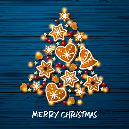 Gingerbeard Cookies Christmas Tree