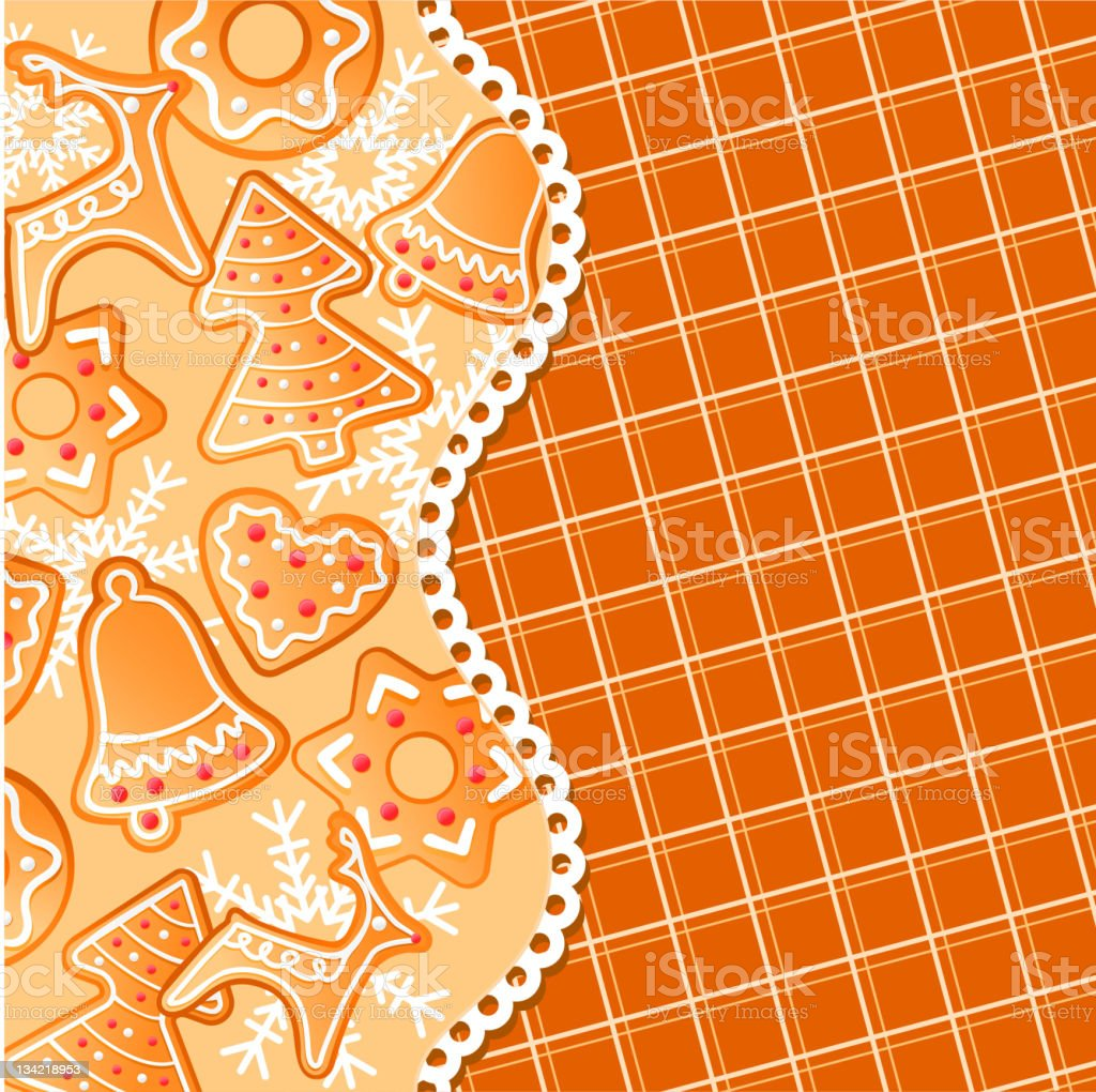 Gingerbread background royalty-free stock vector art