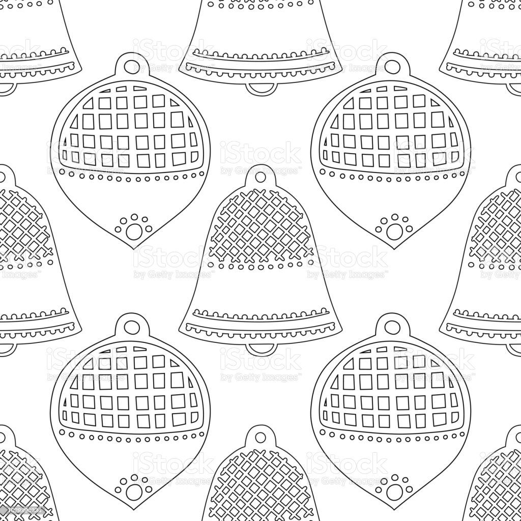 gingerbread black and white illustration for coloring book or page christmas holiday background