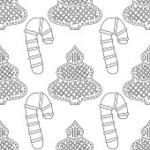 black and white illustration for coloring book or page christmas holiday background gingerbread