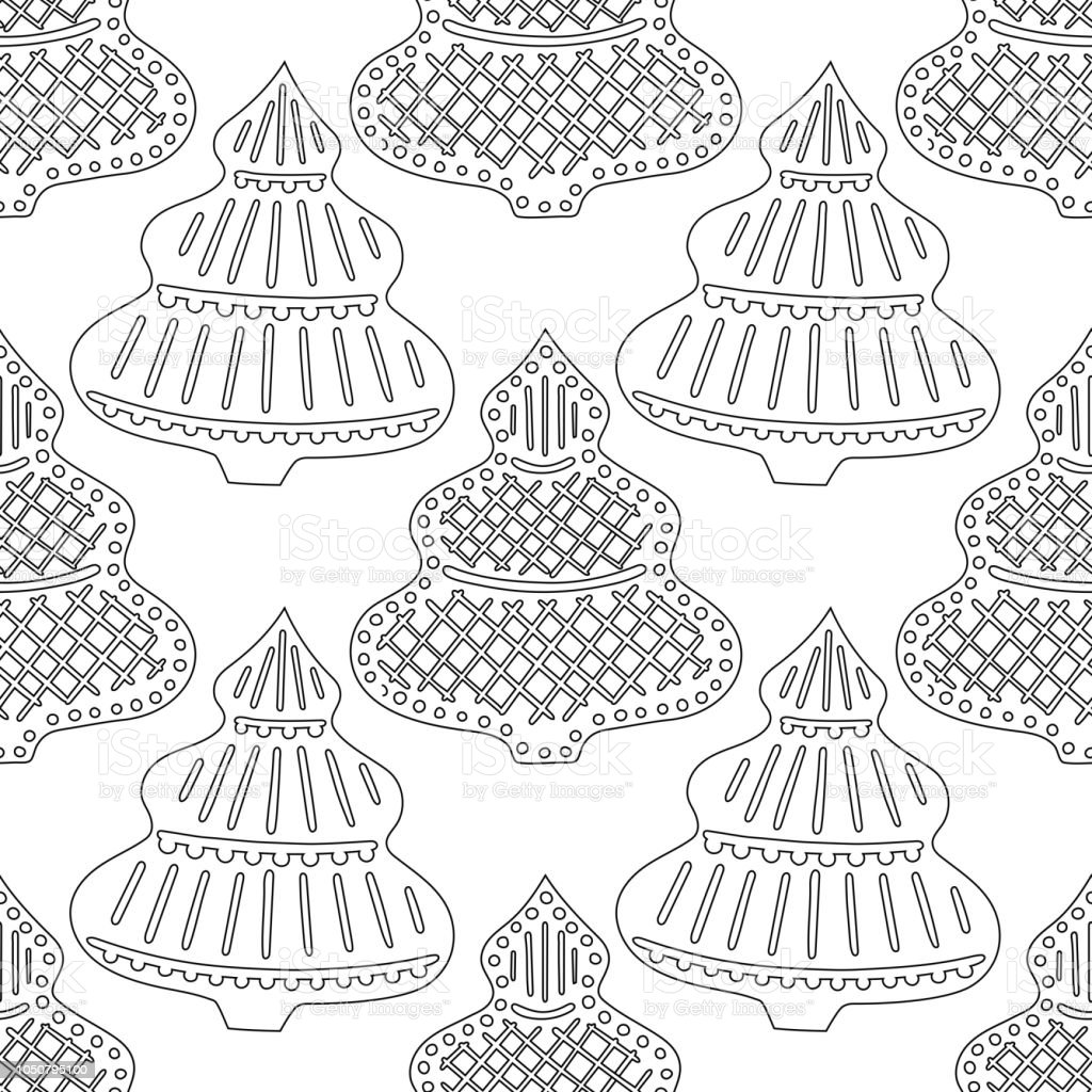 - Gingerbread Black And White Illustration For Coloring Book Or Page