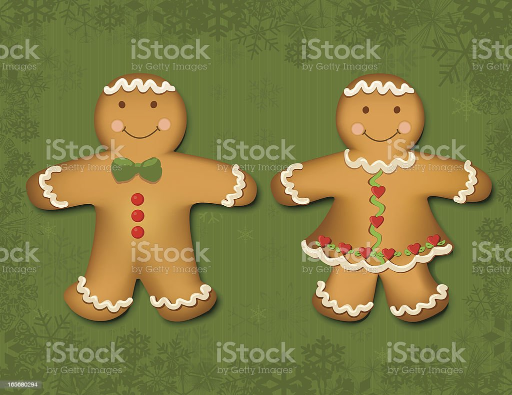 Gingerbread Boy and Girl royalty-free gingerbread boy and girl stock vector art & more images of adult