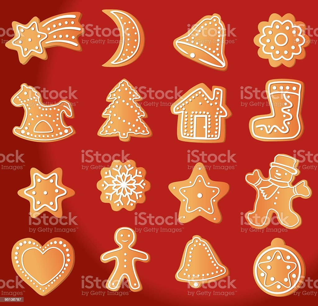 Gingerbread Cookie royalty-free stock vector art