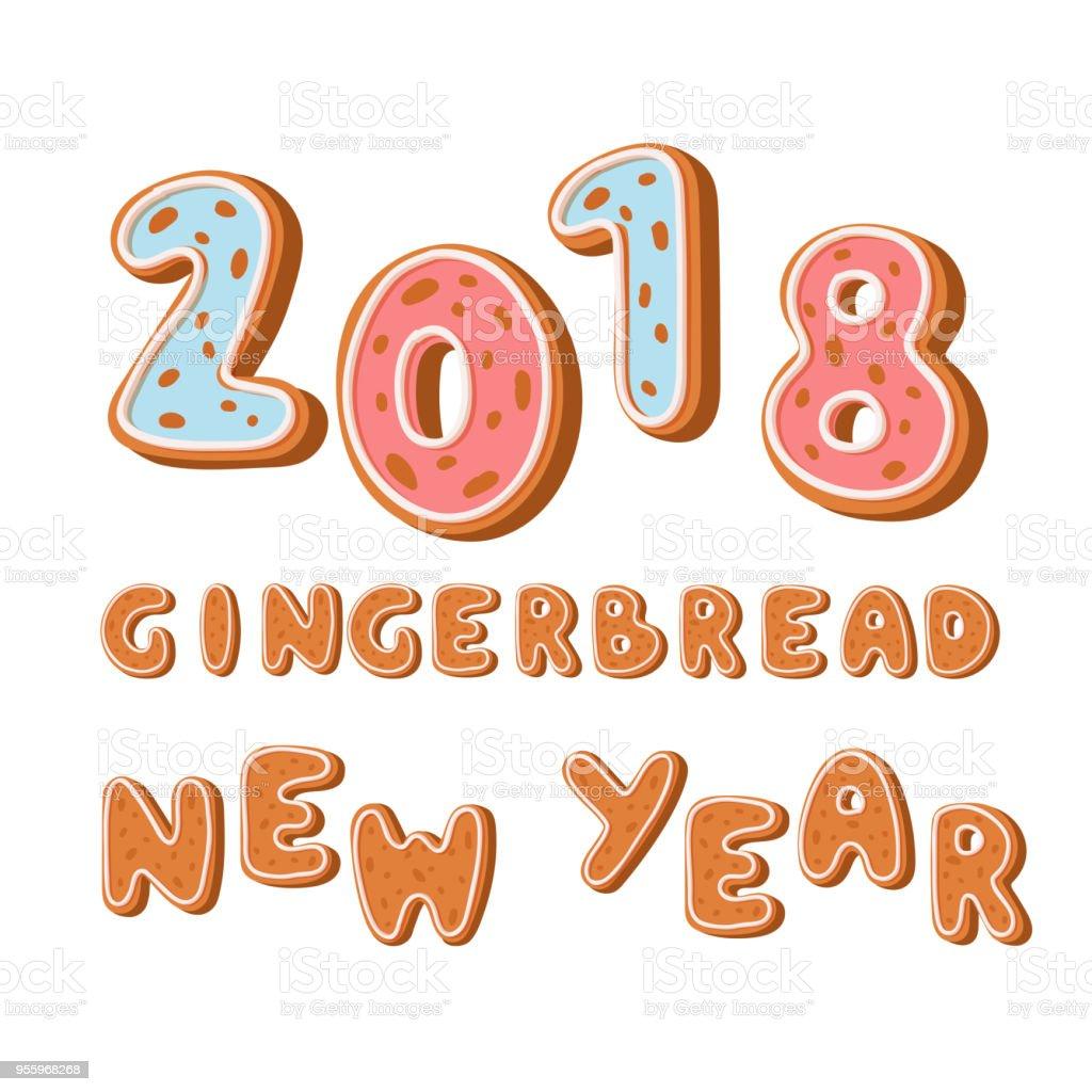 weihnachten 2018 urlaub Ingwerlebkuchen 2018 Urlaub Cookie Schriftart Text Keks Essen  weihnachten 2018 urlaub