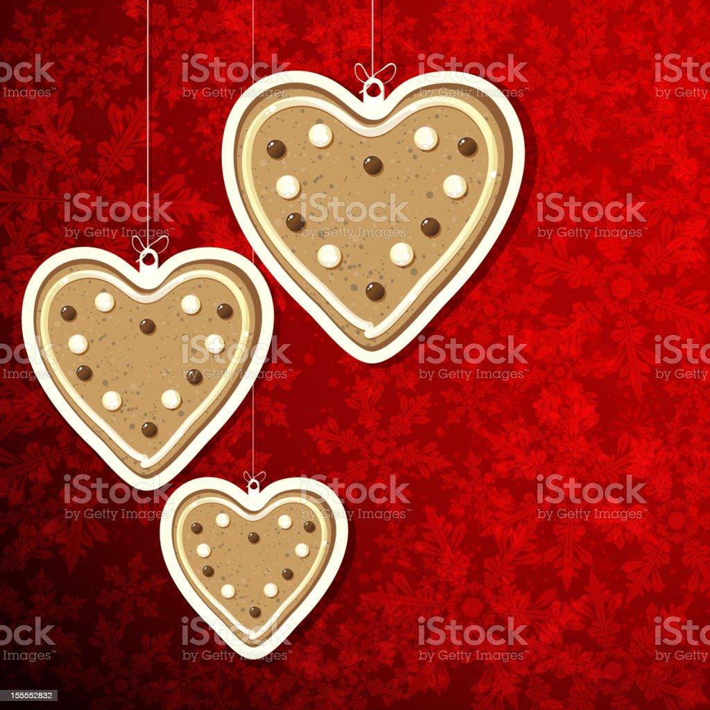 Gingerbread hearts royalty-free stock vector art