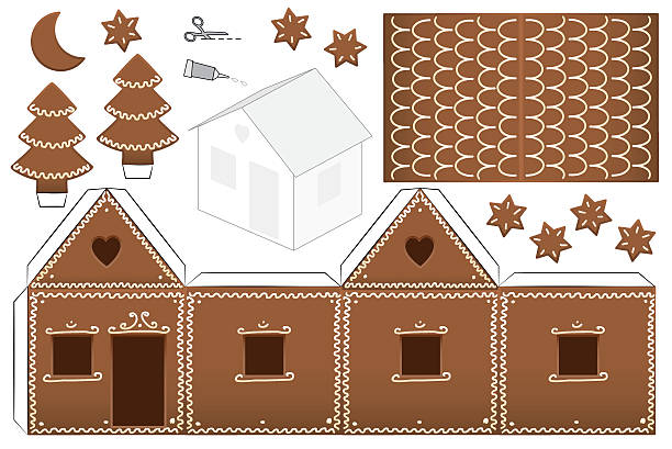 Best Gingerbread House Illustrations Royalty Free Vector