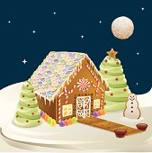 Gingerbread House Scene
