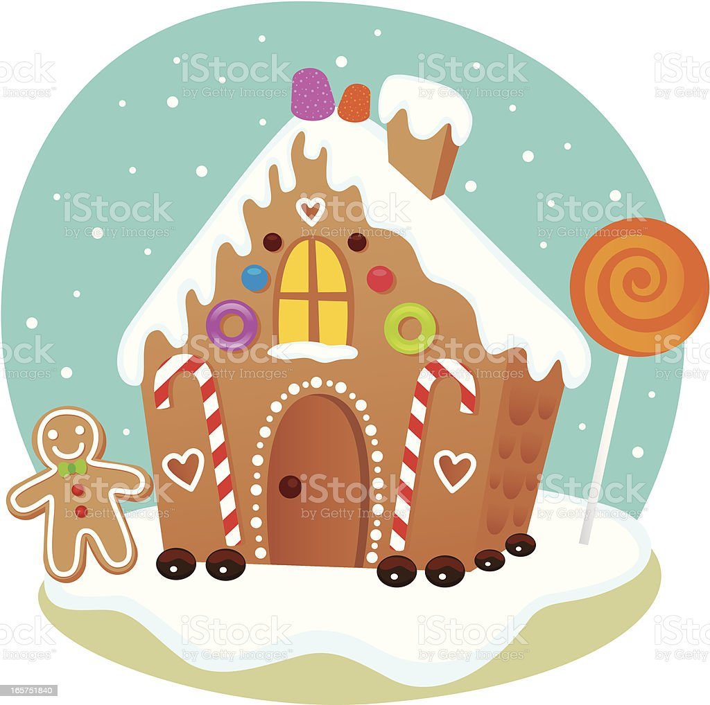 Gingerbread House vector art illustration