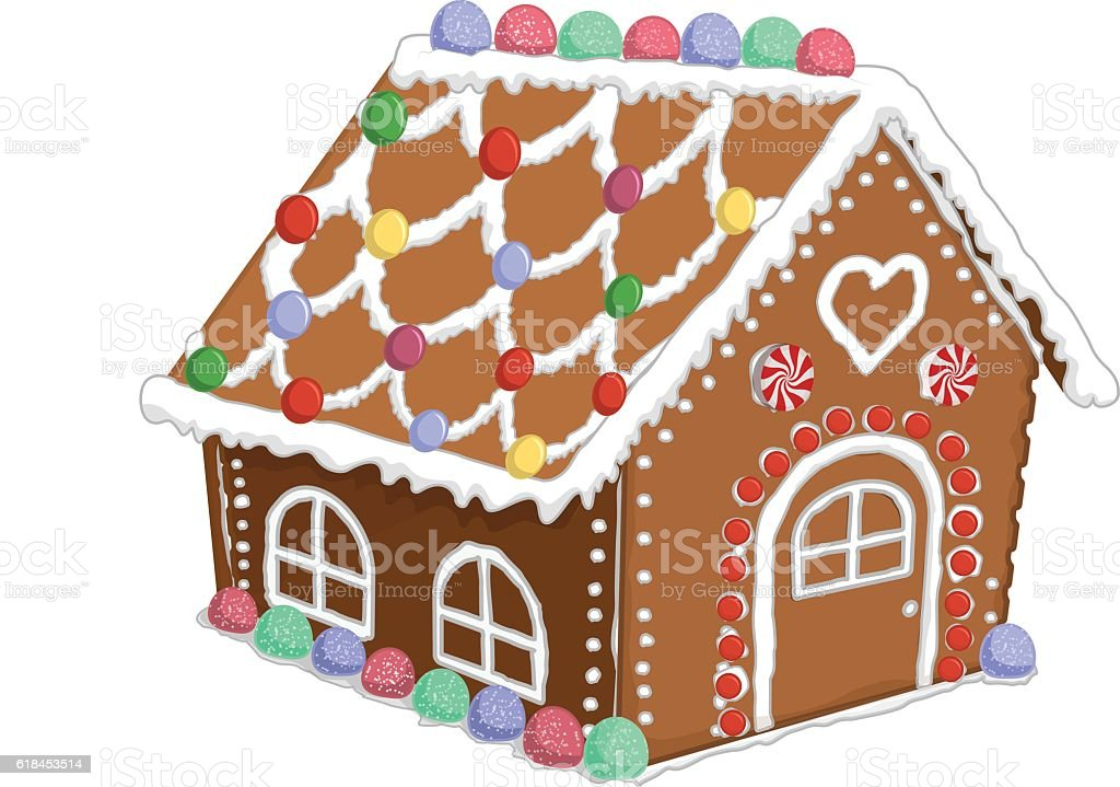 royalty free gingerbread house clip art vector images rh istockphoto com christmas gingerbread house clipart gingerbread house clipart pinterest