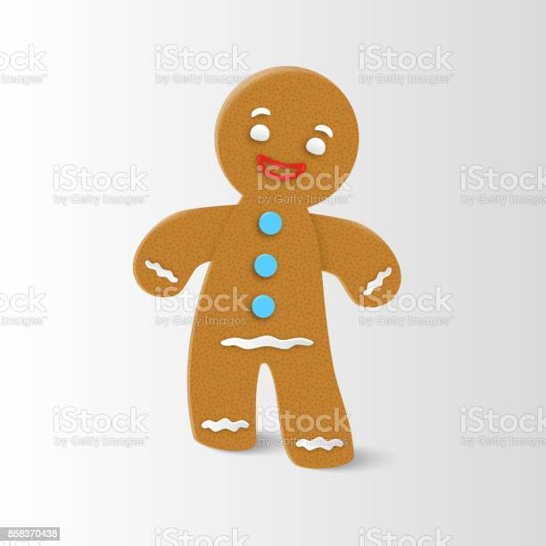 Gingerbread Man Christmas Stock Illustration - Download Image Now