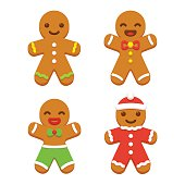 Gingerbread man cookie set