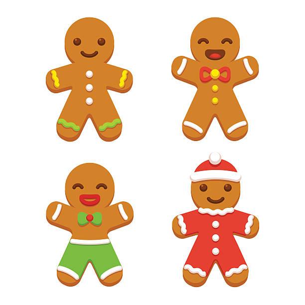 ilustraciones, imágenes clip art, dibujos animados e iconos de stock de hombre de jengibre de galletas - gingerbread man